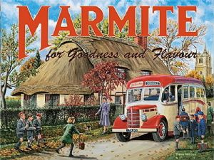 Marmite Bedford Bus fridge magnet  (og)
